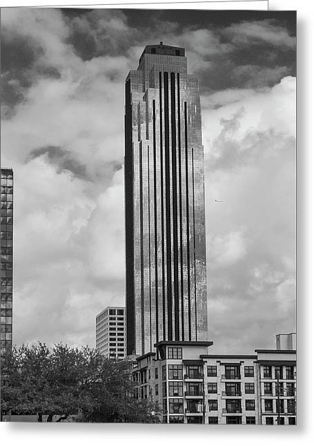 Williams Tower In Black And White Greeting Card