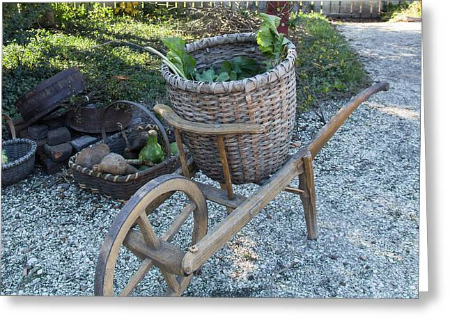 Williamsburg Basket Cart Greeting Card