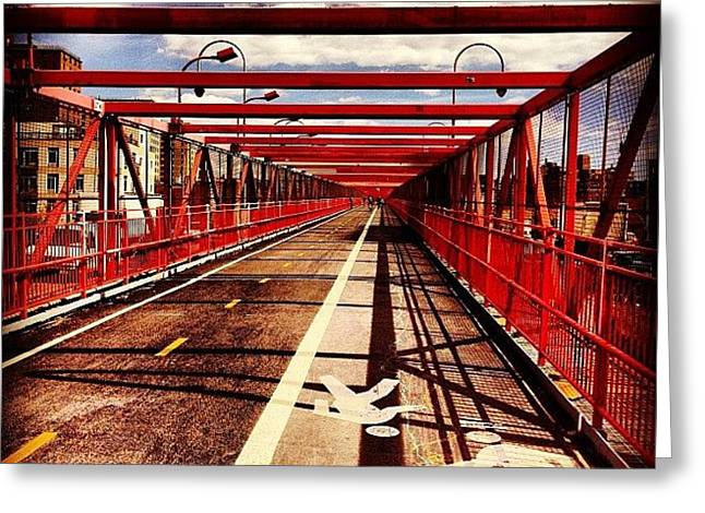 Williamsburg Bridge - New York City Greeting Card