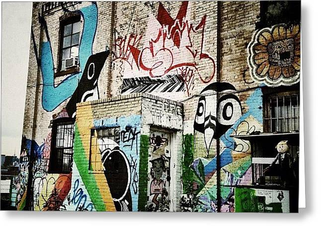 Williamsburg Graffiti Greeting Card by Natasha Marco