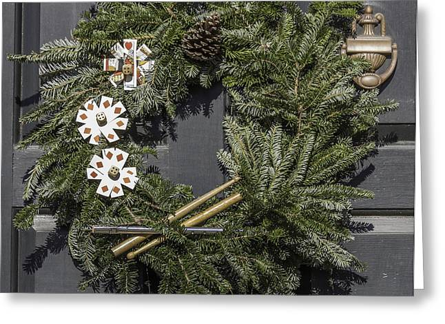 Williamsburg Wreath 22 Greeting Card by Teresa Mucha