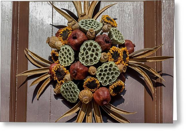 Williamsburg Wreath 35 Greeting Card by Teresa Mucha