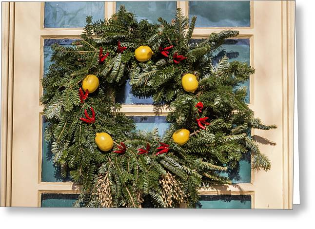 Williamsburg Wreath 37 Greeting Card