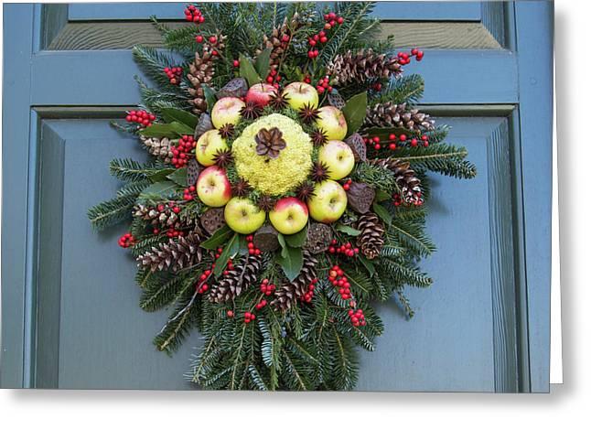 Williamsburg Wreath 45 Greeting Card