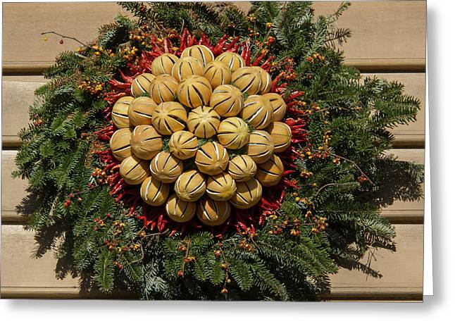 Williamsburg Wreath 46 Greeting Card by Teresa Mucha