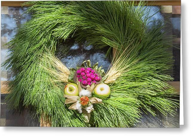 Williamsburg Wreath 49 Greeting Card