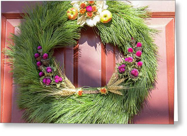 Williamsburg Wreath 50 Greeting Card