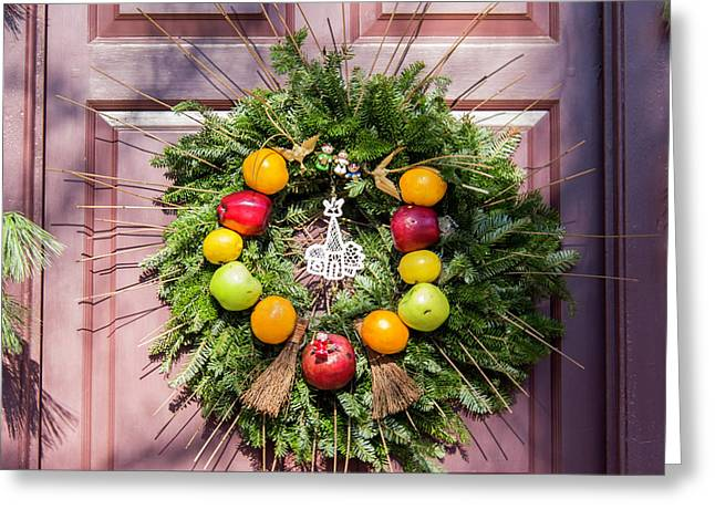 Williamsburg Wreath 53 Greeting Card