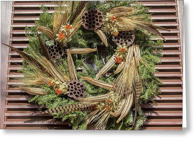 Williamsburg Wreath 55 Greeting Card
