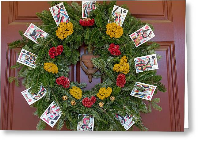Williamsburg Wreath 56 Greeting Card