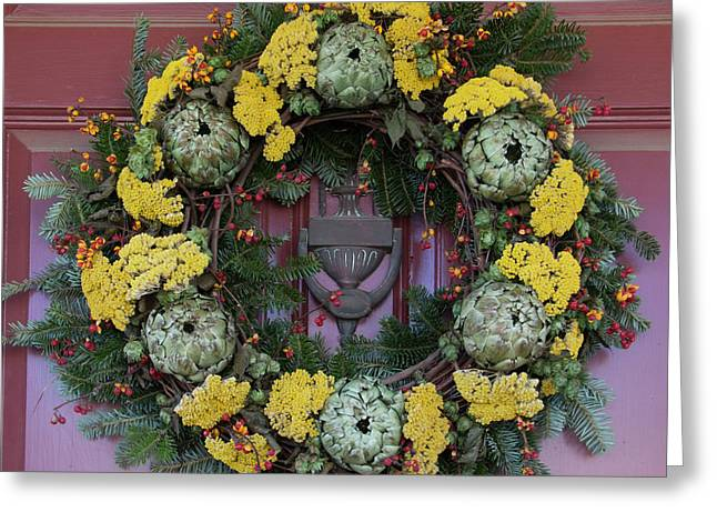 Williamsburg Wreath 65 Greeting Card by Teresa Mucha