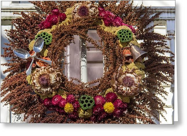 Williamsburg Wreath 69 Greeting Card by Teresa Mucha