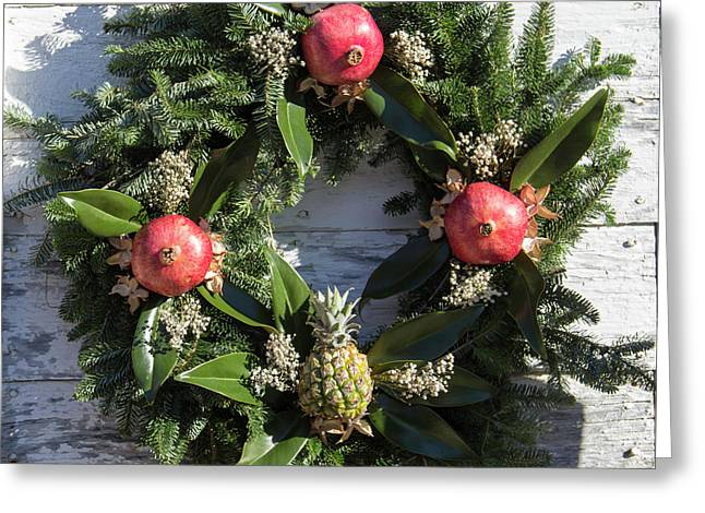 Williamsburg Wreath 70 Greeting Card