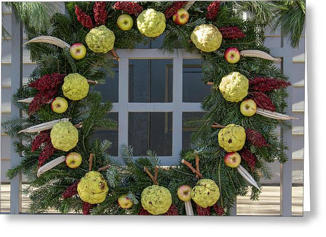 Williamsburg Wreath 83 Greeting Card by Teresa Mucha