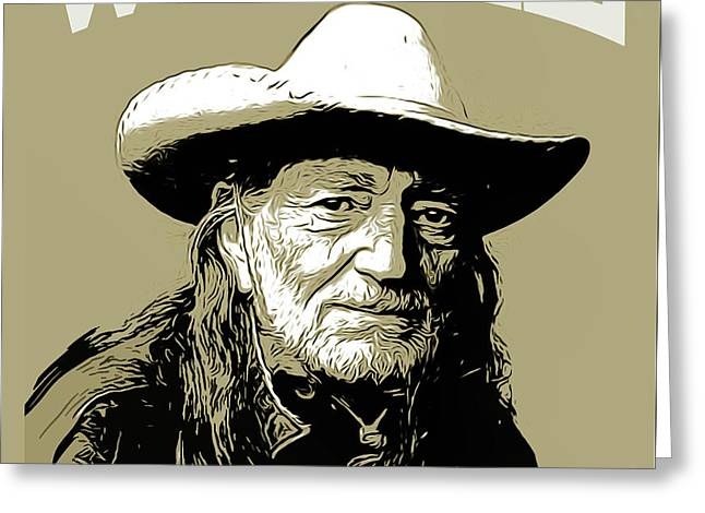 Willie 2 Greeting Card by Greg Joens