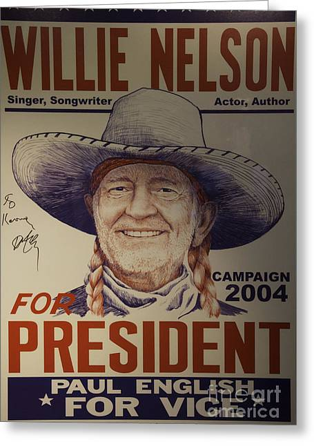 Willie For President Greeting Card