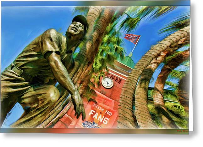 Willie Mays  Greeting Card by Blake Richards