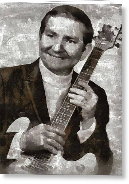 Willie Nelson Country Star Greeting Card by Mary Bassett