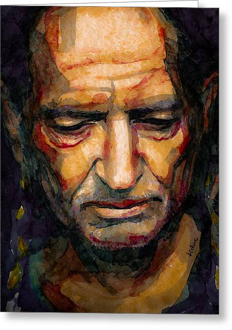 Willie Nelson Portrait 2 Greeting Card