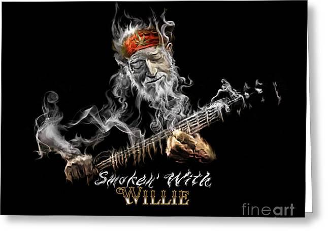 Willie Smoken' Greeting Card