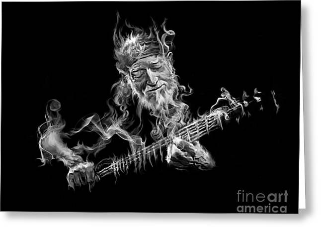 Willie - Up In Smoke Greeting Card