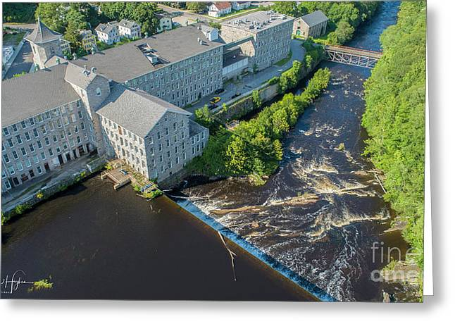 Willimantic River And Mill #2 Greeting Card