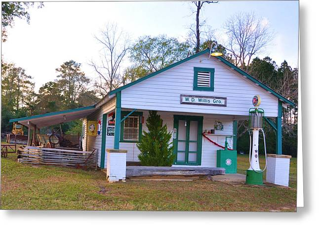 Willis' Grocery Greeting Card by Jan Amiss Photography