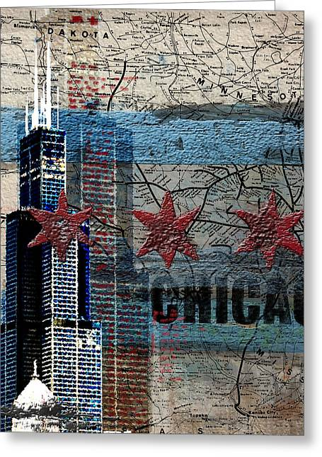 Willis Tower 208 2 Greeting Card