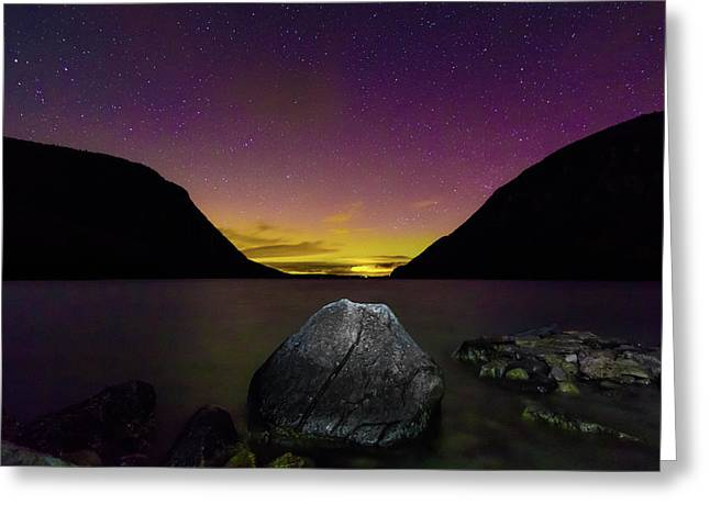 Willoughby Aurora And Boulder Greeting Card