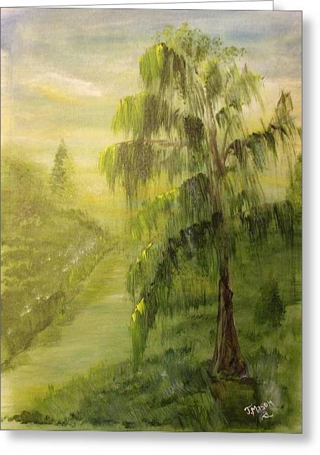 Willow Bend Greeting Card by Jessica Mason