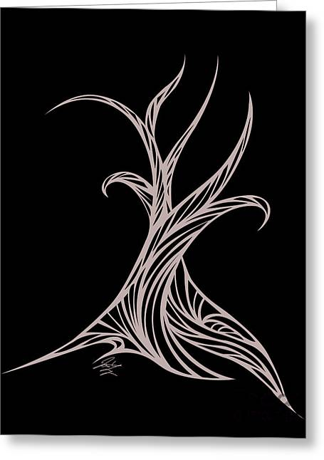 Willow Curve Greeting Card by Jamie Lynn