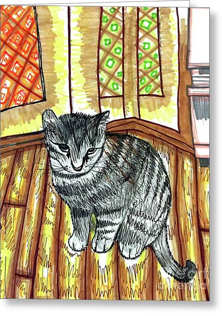 Willow Kitty Greeting Card