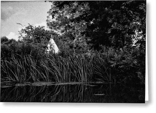 Willy Lot's Cottage Seen From The Stour Greeting Card by Mike Chen