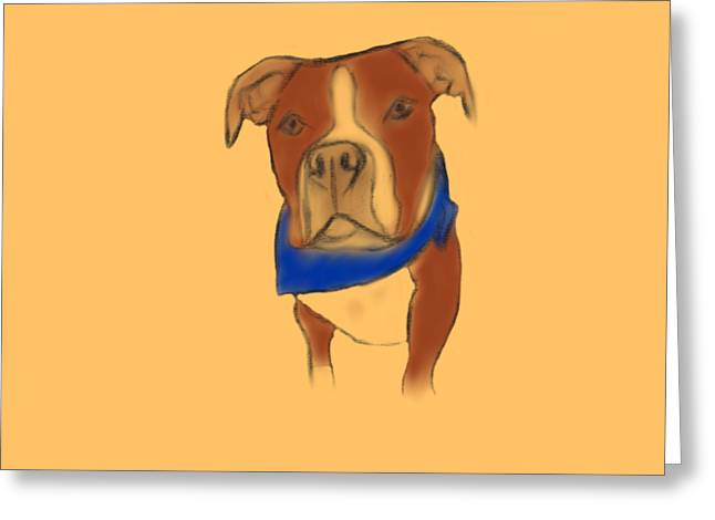 Willy The Pittie Greeting Card by Sarah Dampier