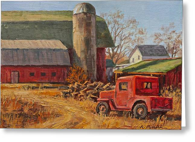 Willys Jeep At Work Greeting Card by Robert Perrish