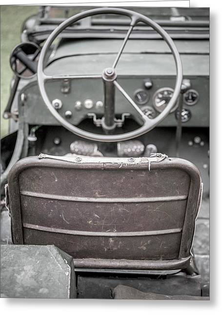 Willy's Jeep Drivers Seat  Greeting Card