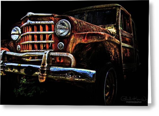 Greeting Card featuring the photograph Willy's Station Wagon by Glenda Wright