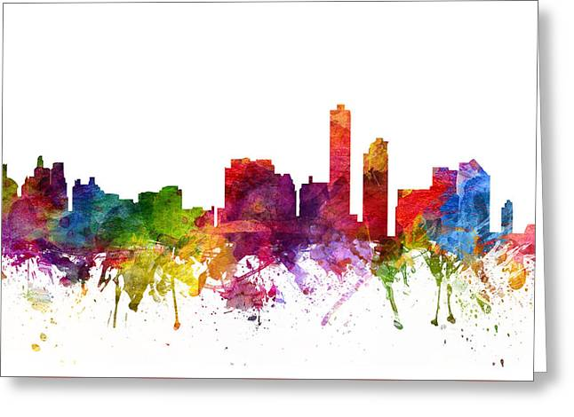 Wilmington Cityscape 06 Greeting Card by Aged Pixel