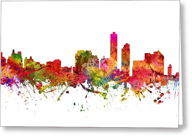 Wilmington Cityscape 08 Greeting Card by Aged Pixel