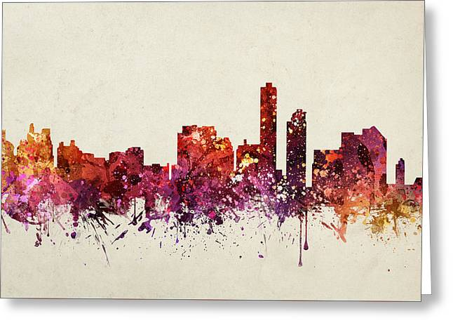 Wilmington Cityscape 09 Greeting Card by Aged Pixel