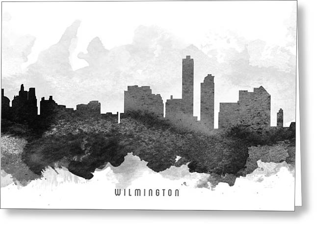 Wilmington Cityscape 11 Greeting Card by Aged Pixel