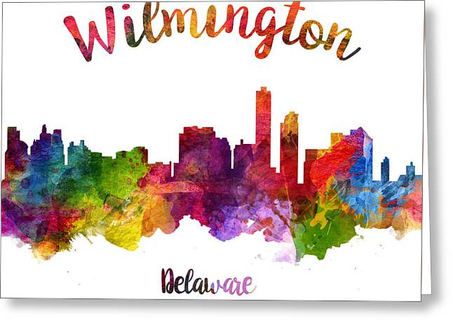 Wilmington Delaware 23 Greeting Card by Aged Pixel