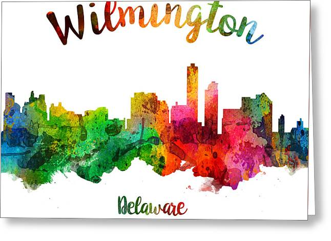 Wilmington Delaware 24 Greeting Card by Aged Pixel