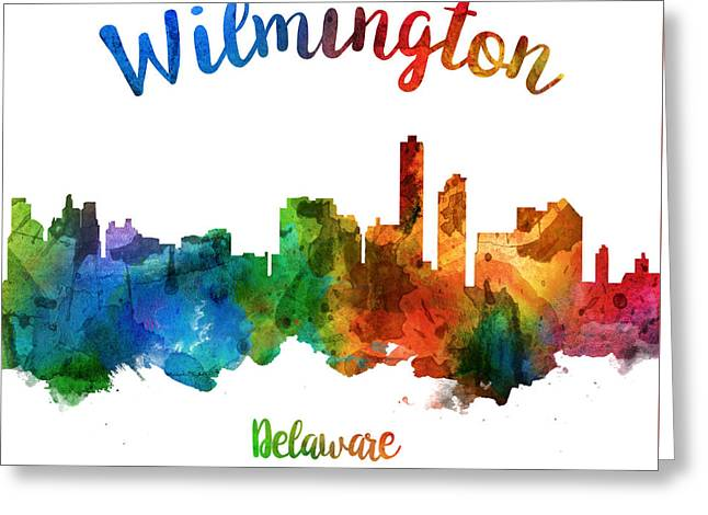 Wilmington Delaware 25 Greeting Card by Aged Pixel