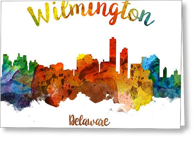 Wilmington Delaware 26 Greeting Card by Aged Pixel