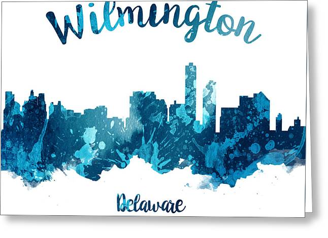 Wilmington Delaware 27 Greeting Card by Aged Pixel