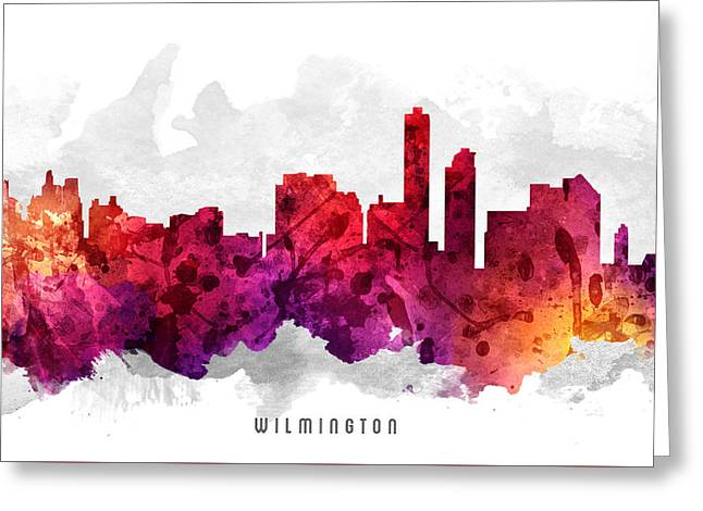 Wilmington Delaware Cityscape 14 Greeting Card by Aged Pixel