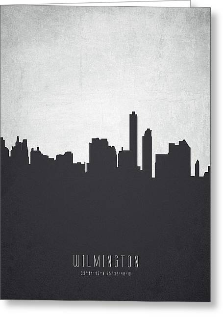Wilmington Delaware Cityscape 19 Greeting Card by Aged Pixel