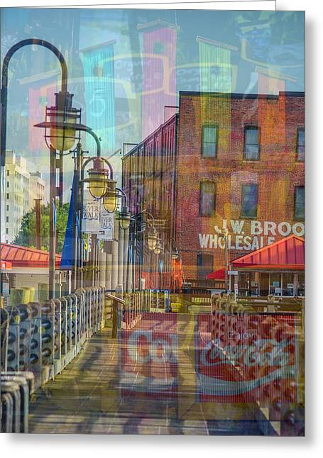 Wilmington North Carolina Riverfront Greeting Card
