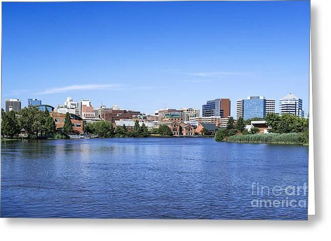 Wilmington Skyline Greeting Card by John Greim